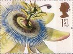 Greetings Stamps. 19th-century Flower Paintings 1st Stamp (1997) Passiflora  coerulea (Ehret)