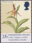 Endangered Species 26p Stamp (1998) Lady's Slipper Orchid