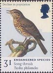 Endangered Species 31p Stamp (1998) Song Thrush