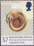 Endangered Species 37p Stamp (1998) Shining Ram's-horn Snail