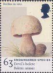 Endangered Species 63p Stamp (1998) Devil's Bolete