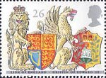 The Queens Beasts 26p Stamp (1998) Lion of England and Griffin of Edward III