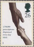 Health 26p Stamp (1998) Adult and Child holding Hands