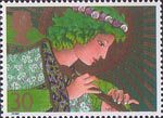 Christmas 1998 30p Stamp (1998) Angel playing Flute