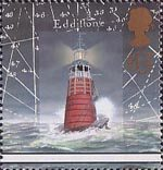 Lighthouses 63p Stamp (1998) Eddystone Lighthouse, Plymouth, 1698