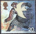 Millennium Series. The Settlers' Tale 20p Stamp (1999) Dove and Norman settler (medieval migration to Scotland)