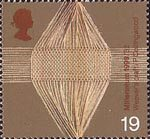 Millennium Series. The Workers' Tale 19p Stamp (1999) Woven Threads (woolen industry)