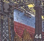 Millennium Series. The Workers' Tale 44p Stamp (1999) Hull on Slipway (shipbuilding)