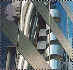 Millennium Series. The Workers' Tale 64p Stamp (1999) Lloyd's Building (City of London finance centre)
