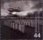 Millennium Series. The Soldiers' Tale 44p Stamp (1999) War Graves Cemetery, The Somme (World Wars)