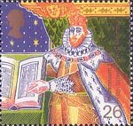 Millennium Series. The Christians' Tale 26p Stamp (1999) King James I and Bible (Authorised Version of Bible)