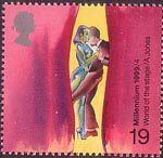 Millennium Series. The Artists' Tale 19p Stamp (1999) World of the Stage (Allen Jones)