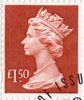 High Value Definitive �1.50 Stamp (1999) Red