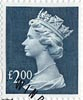 High Value Definitive �2 Stamp (1999) Dull Blue
