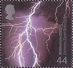 Millennium Projects (2nd Series). 'Fire and Light' 44p Stamp (2000) Lighting (Dynamic Earth Centre, Edinburgh)