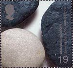Millennium Projects (3rd Series). 'Water and Coast' 19p Stamp (2000) Beach Pebbles (Turning the Tide, Durham Coast)