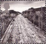 Millennium Projects (3rd Series). 'Water and Coast' 44p Stamp (2000) Cliff Boardwalk (Parc Arfodirol, Llanelli Coast)