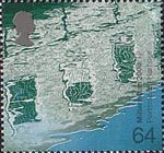 Millennium Projects (3rd Series). 'Water and Coast' 64p Stamp (2000) Reflections in Water (Portsmouth Harbour Development)