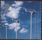 Millennium Projects (4th Series). 'Life and Earth' 44p Stamp (2000) Solar Sensors (Earth Centre, Doncaster)