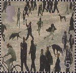 Millennium Projects (5th Series). 'Art and Craft' 65p Stamp (2000) People of Salford (Lowry Centre, Salford)