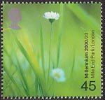 Millennium Projects (6th Series). 'People and Places' 45p Stamp (2000) Daisies (Mile End Park, London)