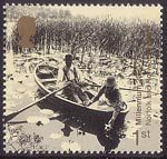 Millennium Projects (9th Series). 'Mind and Matter' 1st Stamp (2000) Gathering Water Lilies on Broads (Norfolk and Norwich Project)