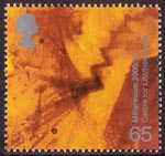 Millennium Projects (10th Series). 'Body and Bone' 65p Stamp (2000) Hen's Egg under Magnification (Centre for Life, Newcastle)