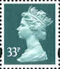 Definitive 33p Stamp (2000) Grey Green