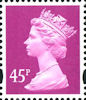 Definitive 45p Stamp (2000) Bright Mauve