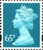 Definitive 65p Stamp (2000) Greenish Blue
