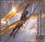 Millennium Projects (12th Series). 'Sound and Vision' 65p Stamp (2000) Figure within Latticework (TS2K Creative Enterprise Centres, London)
