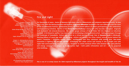 Millennium Projects (2nd Series). 'Fire and Light' (2000)