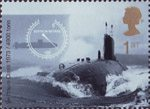 Centenary of Royal Navy Submarine Service 1st Stamp (2001) Swiftsure Class Submarine, 1973