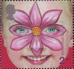 New Millennium. Rights of the Child. Face Paintings 2nd Stamp (2001) 'Flower' - Nurture Children