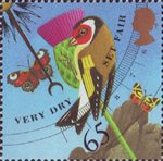 The Weather 65p Stamp (2001) Very Dry