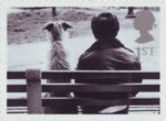 Cats and Dogs 1st Stamp (2001) Dog and Owner on Bench