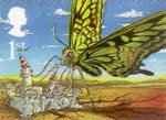 Centenary of Publication of Rudyard Kipling's Just So Stories 1st Stamp (2002) The Butterfly that stamped