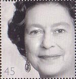 Golden Jubilee 45p Stamp (2002) Queen Elizabeth II, 1984 (Yousef Karsh)