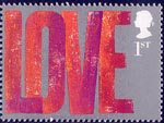 'Occasions' Greetings Stamps 1st Stamp (2002) 'LOVE'