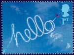 'Occasions' Greetings Stamps 1st Stamp (2002) Aircraft Sky-writing 'hello'