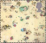British Coastlines 27p Stamp (2002) Newquay Beach, Cornwall