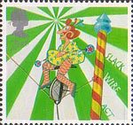 Europa. Circus 2nd Stamp (2002) Stack Wire Act