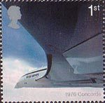 50th Anniversary of Passenger Jet Aviation. Airliners 1st Stamp (2002) Concorde (1976)