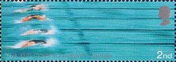 17th Commonwealth Games, Manchester 2nd Stamp (2002) Swimming