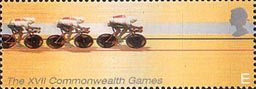 17th Commonwealth Games, Manchester E Stamp (2002) Cycling