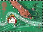 150th Anniversary of Great Ormond Street Children's Hospital. Peter Pan by Sir James Barrie E Stamp (2002) Crocodile and Alarm Clock