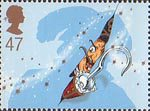 150th Anniversary of Great Ormond Street Children's Hospital. Peter Pan by Sir James Barrie 47p Stamp (2002) Captain Hook
