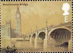 Bridges of London E Stamp (2002) Westminster Bridge, 1864