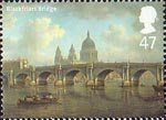 Bridges of London 47p Stamp (2002) 'Blackfriars Bridge, c1800' (William Marlow)