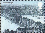 Bridges of London 68p Stamp (2002) 'London Bridge, c1670' (Wenceslaus Hollar)